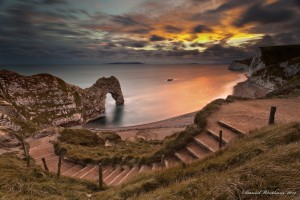 amazing sunset wallpapers stairs
