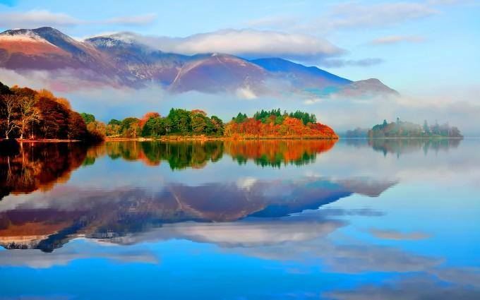 autumn lake nature landscape