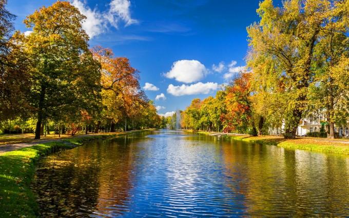 autumn river stunning