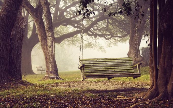 autumn swing wallpaper