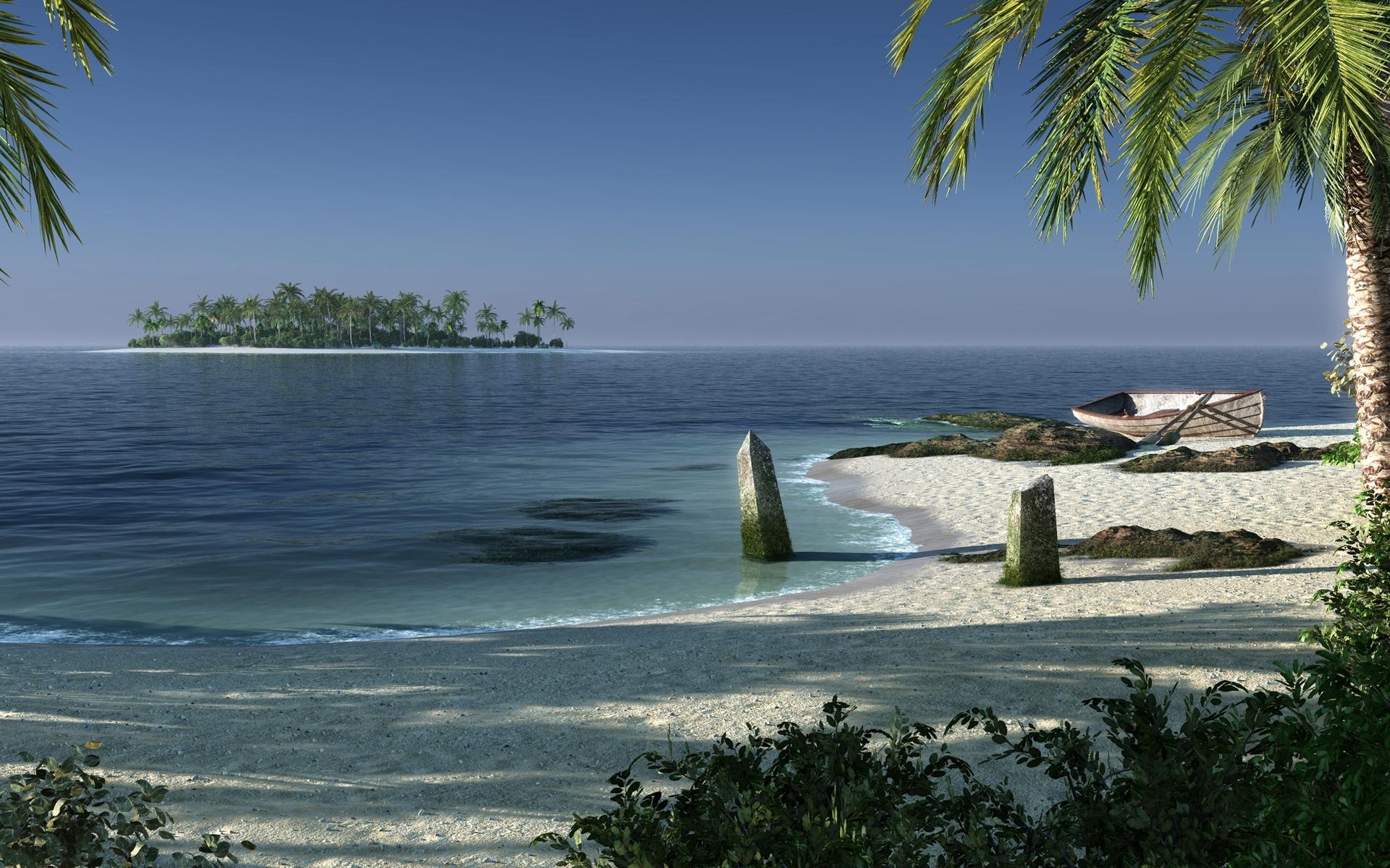 beach fantasy island - hd desktop wallpapers | 4k hd