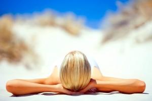 beach sunbathing girl