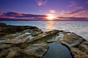 beach sunset beautiful wallpaper