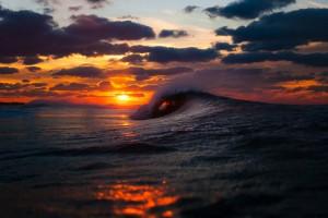 beach sunset wallpaper waves