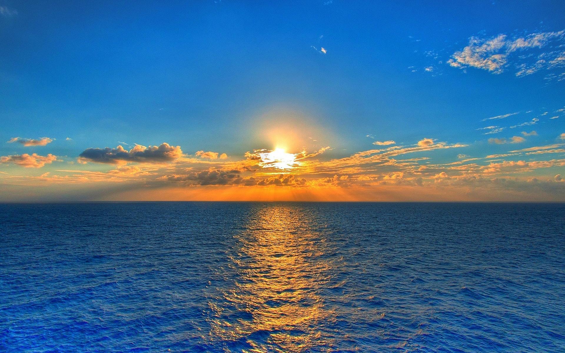 beautiful sunset wallpaper blue