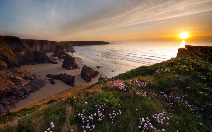 beautiful sunset wallpaper coastal