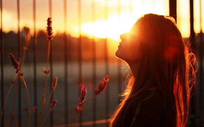 beautiful sunset wallpaper girl