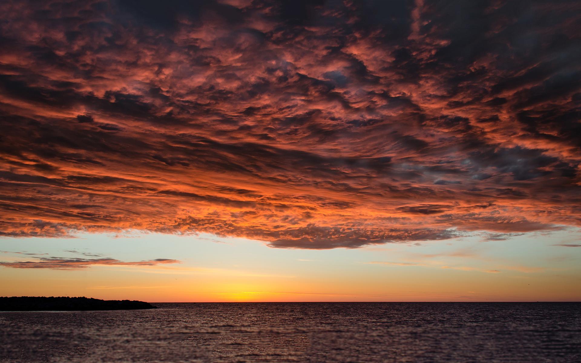 beautiful sunset wallpaper ocean