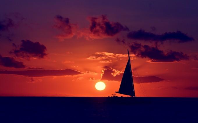 beautiful sunset wallpaper orange