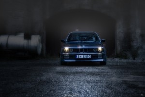 bmw e30 dark blue image