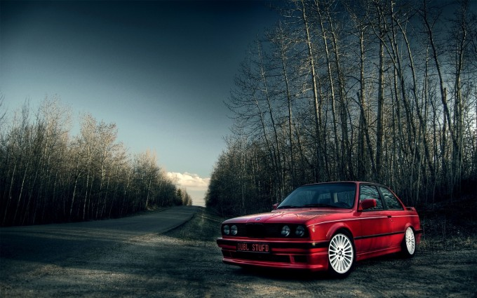 bmw e30 nature dark
