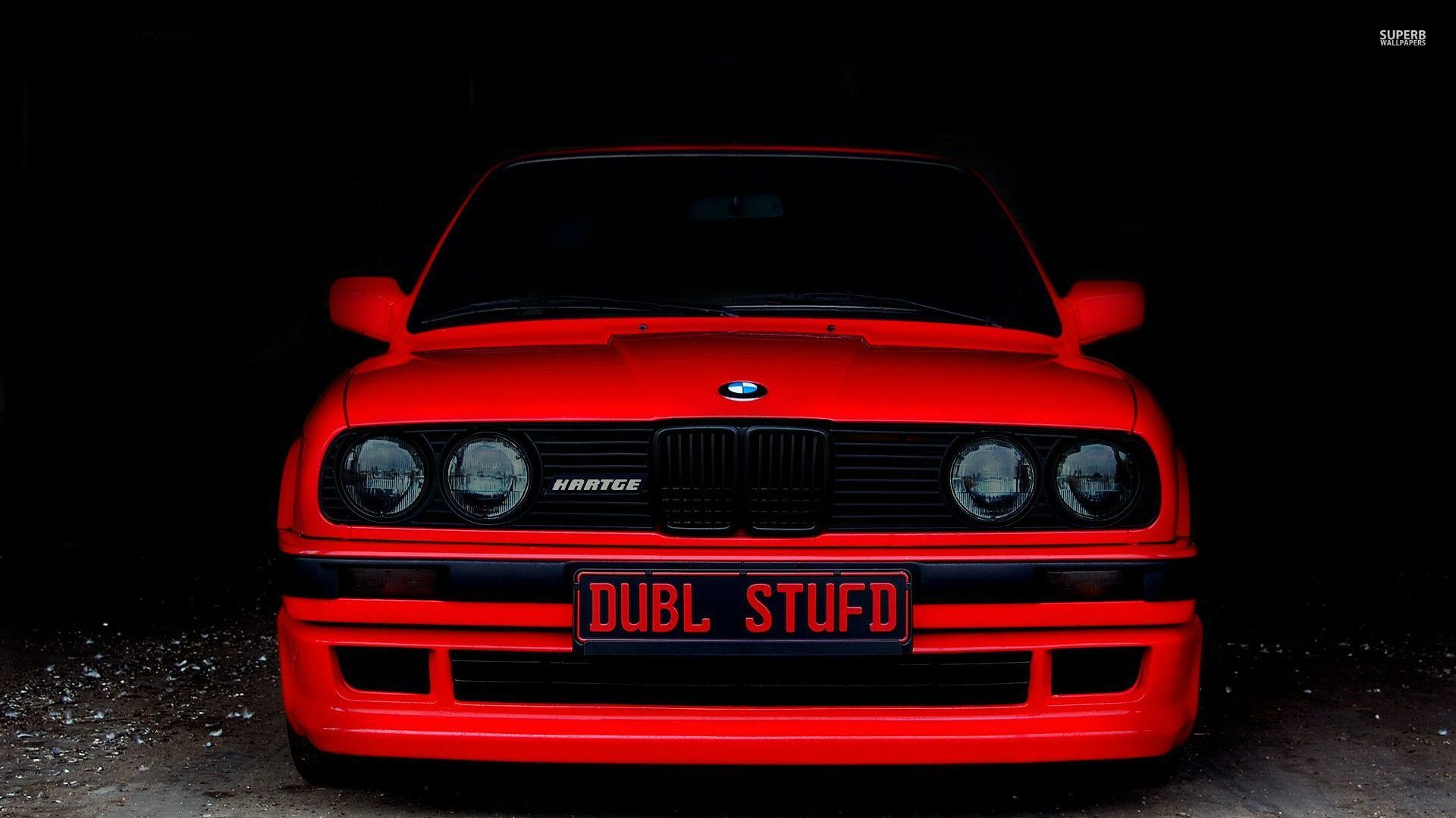 bmw e30 red front