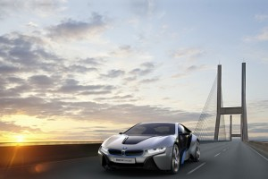 bmw i8 sunset bridge