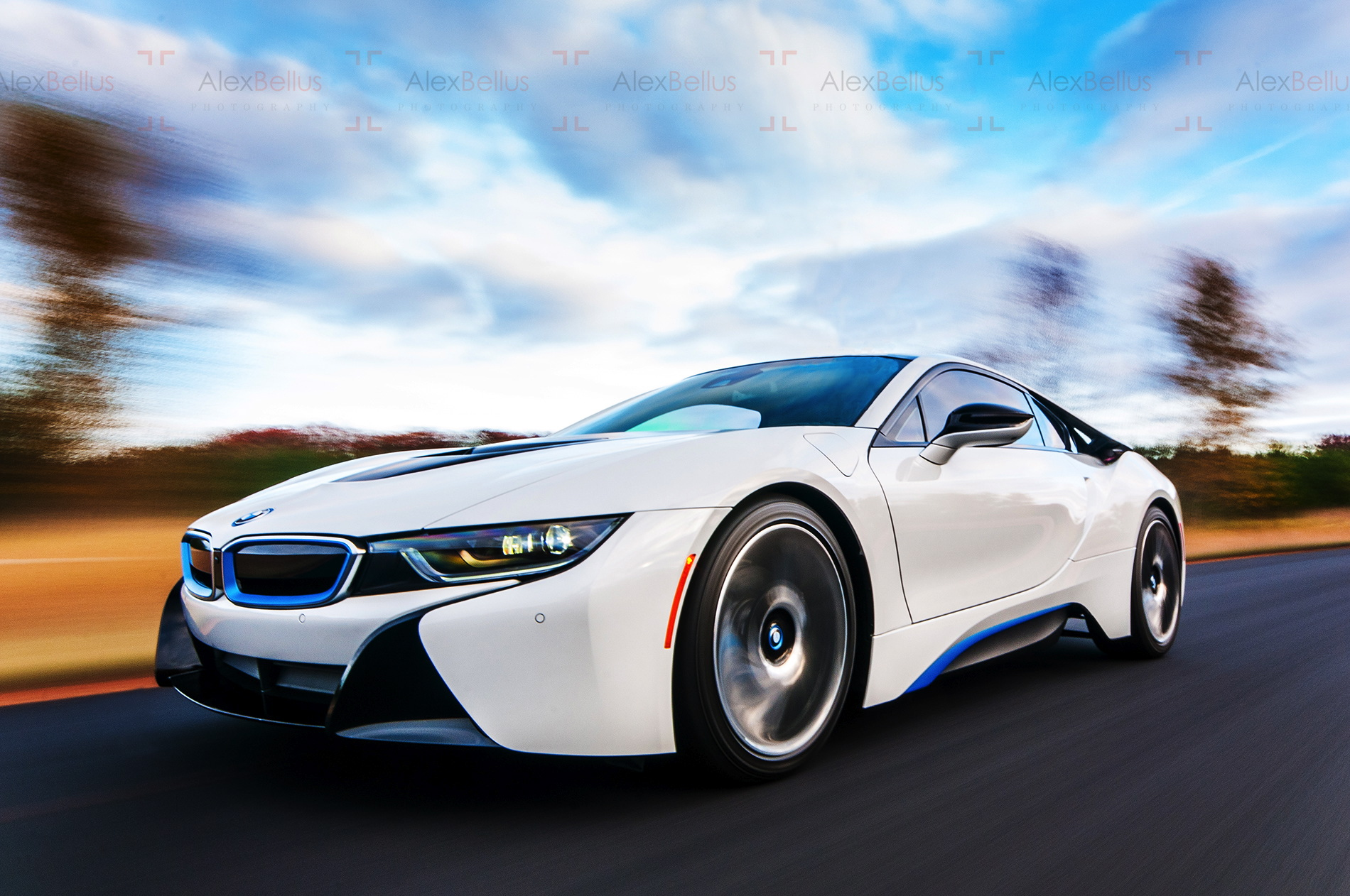 bmw i8 white hd