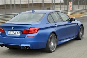 bmw m5 blue back