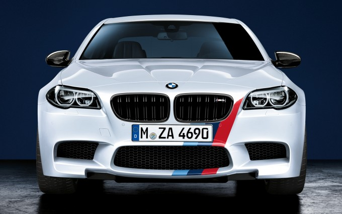 bmw m5 white car front