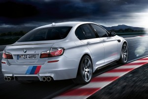 bmw m5  white rear