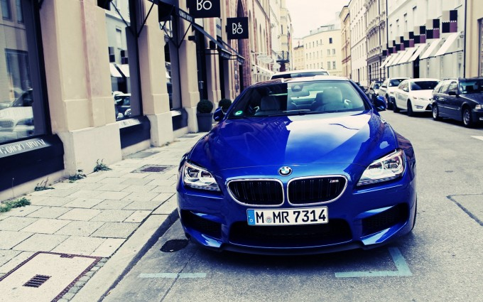 bmw m6 blue front hd