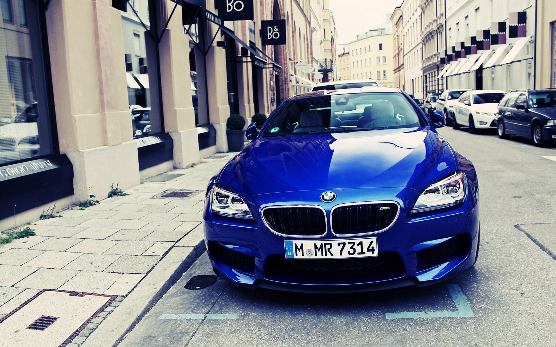 bmw m6 blue front hd