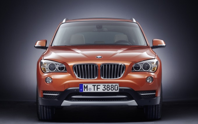 bmw x1 orange dark background