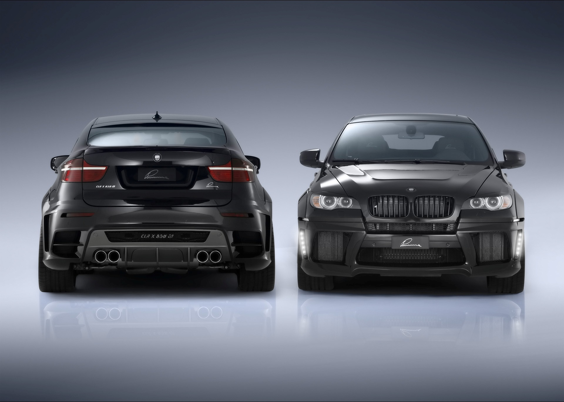 bmw x6 rear and front