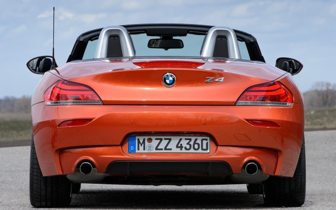 bmw z4 orange back