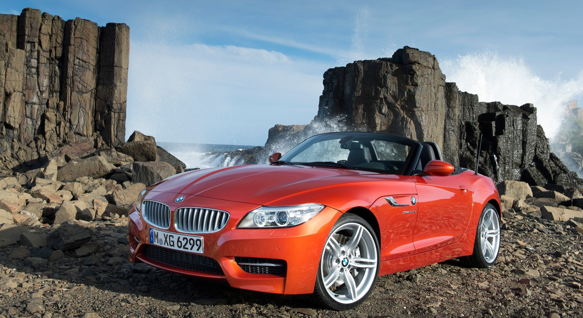 bmw z4 orange beach hd