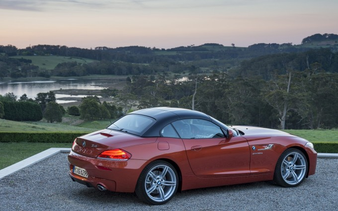 bmw z4 orange cool car