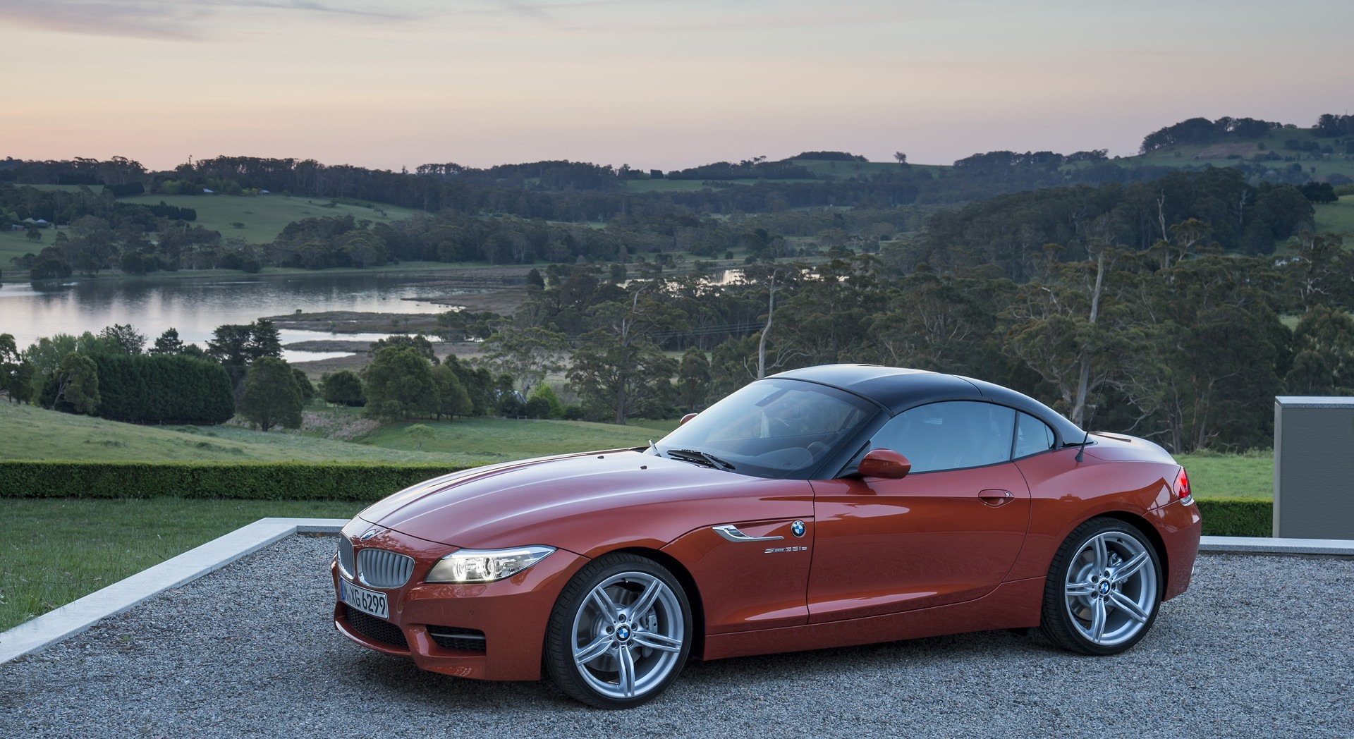 bmw z4 orange nice car