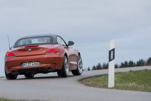 bmw z4 orange rear