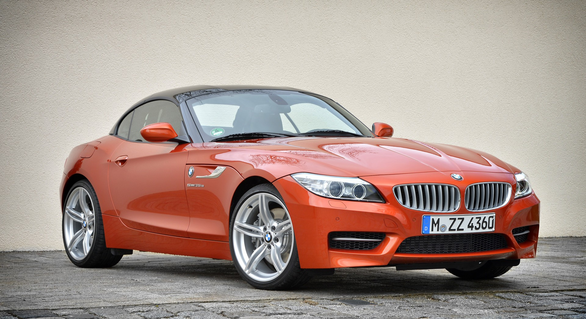bmw z4 orange wallpapers hd
