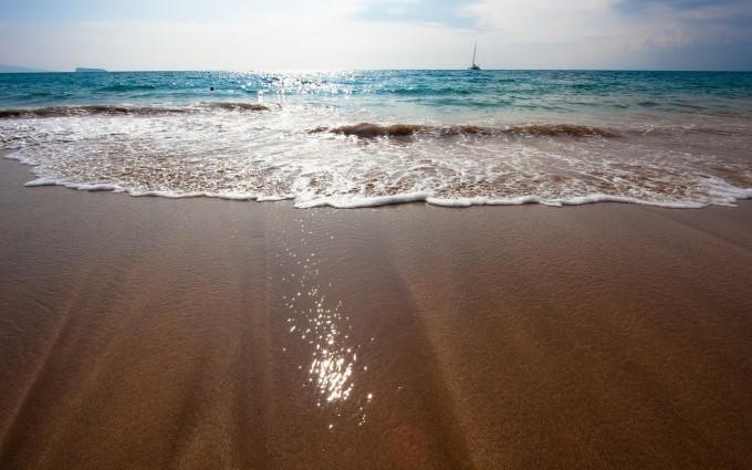 brown sand beach hd