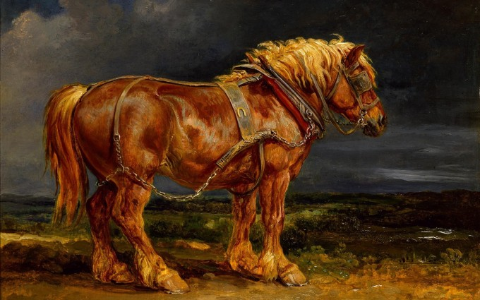 carthorse paintings wallpaper