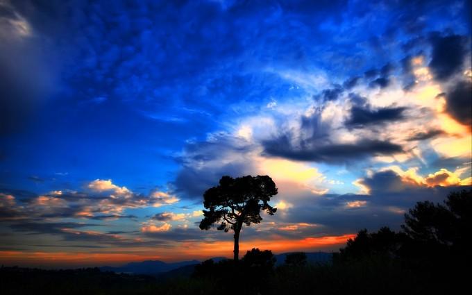 clouds wallpaper evening