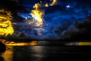 clouds wallpaper ocean storm