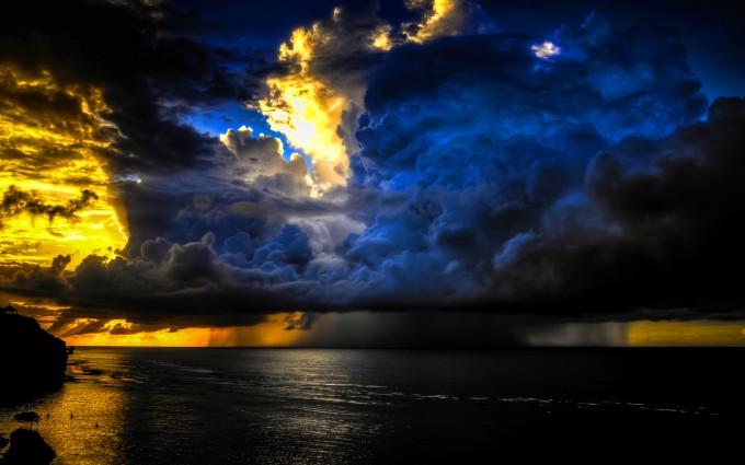 clouds wallpaper ocean storm
