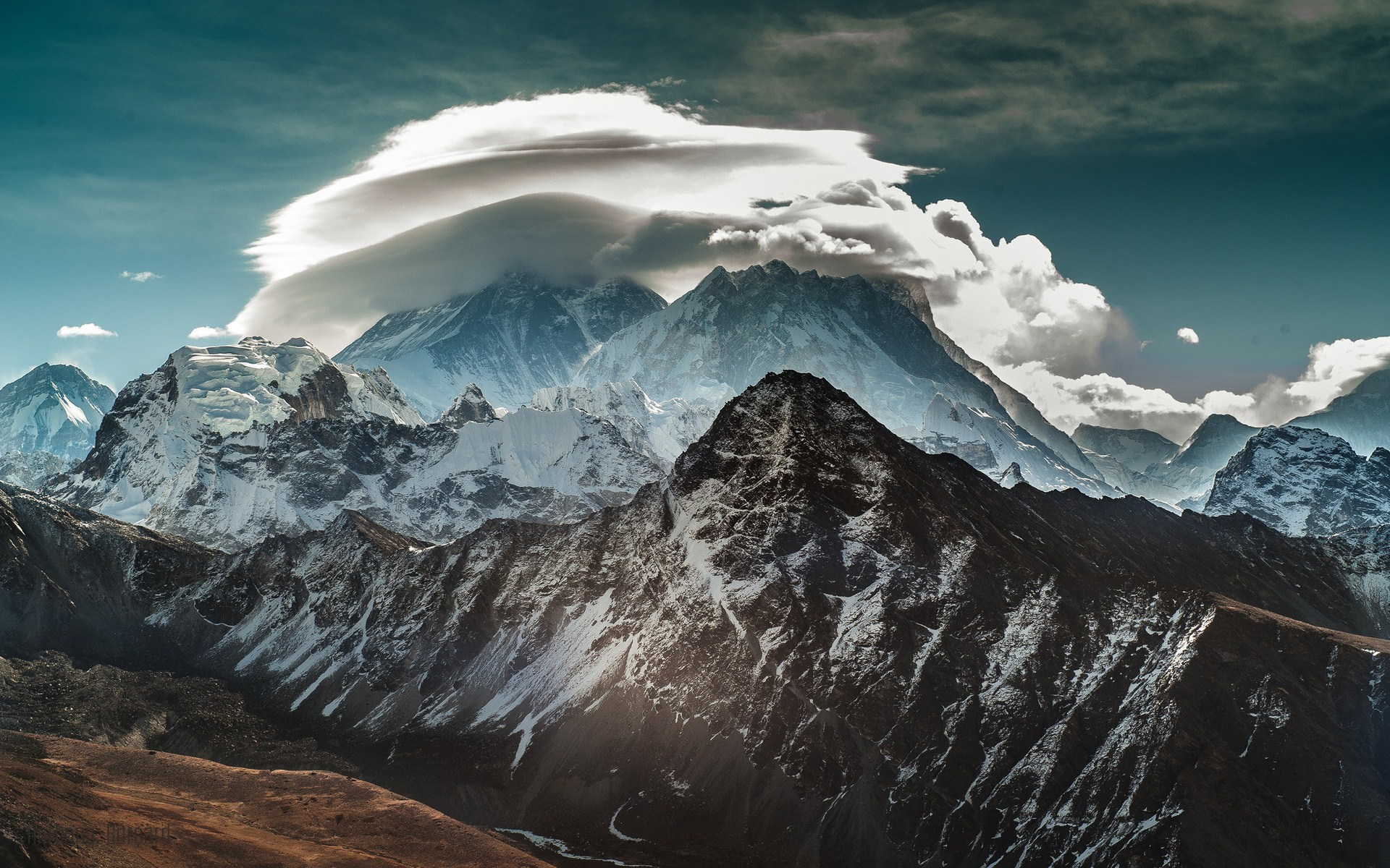 clouds wallpapers mountains
