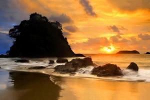 coastal beach sunset