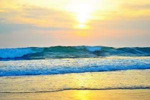 crashing waves landscape
