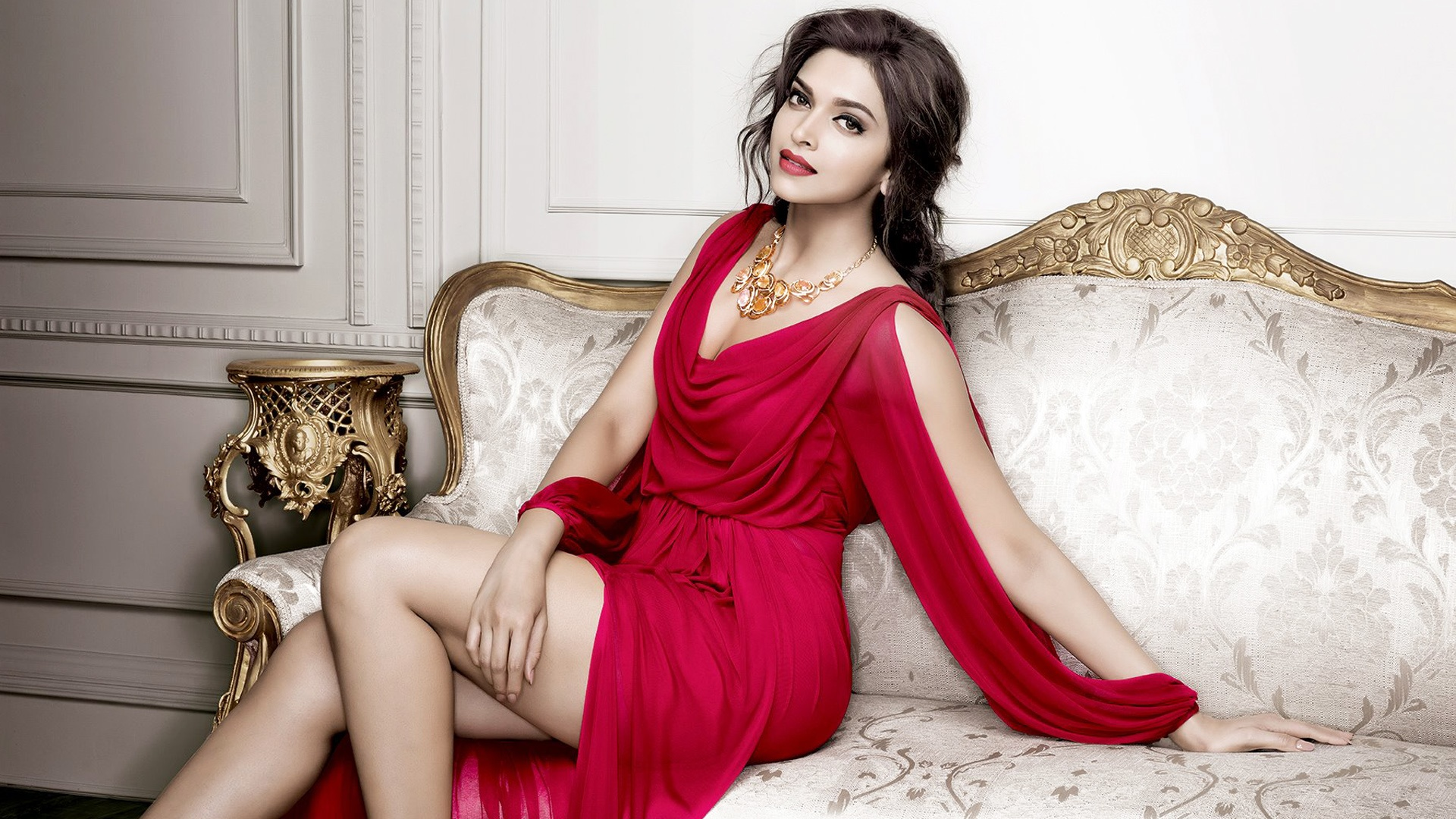 deepika padukone wallpaper red