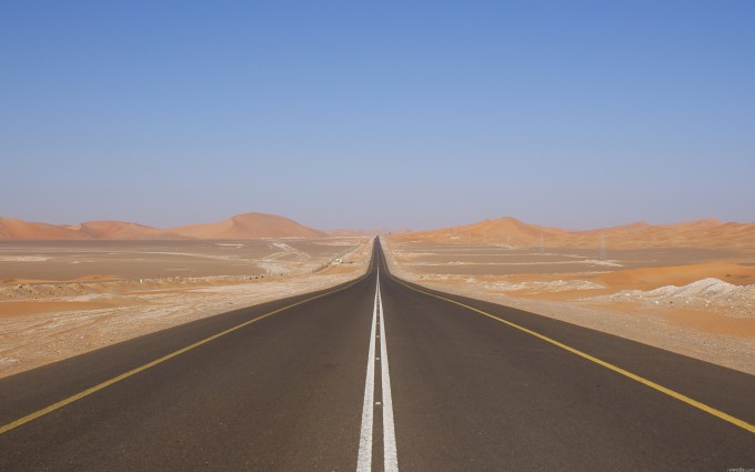 desert road wallpaper hd