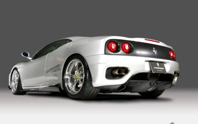 ferrari 360 modena white car