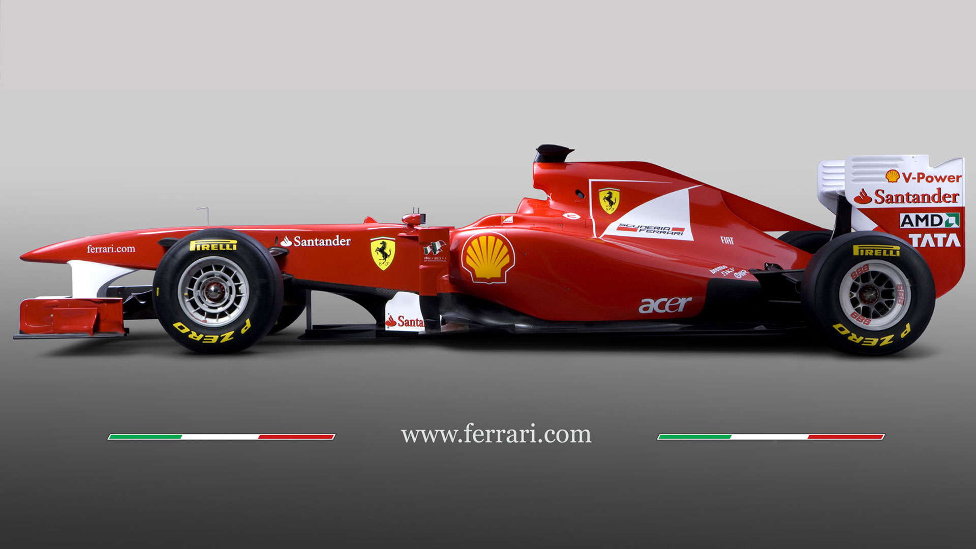 ferrari f1 car side angle