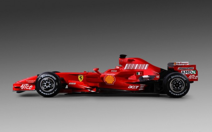 ferrari f1 car wide