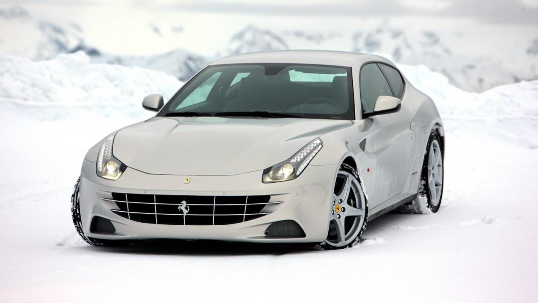 Ferrari Ff White Wallpaper Snow