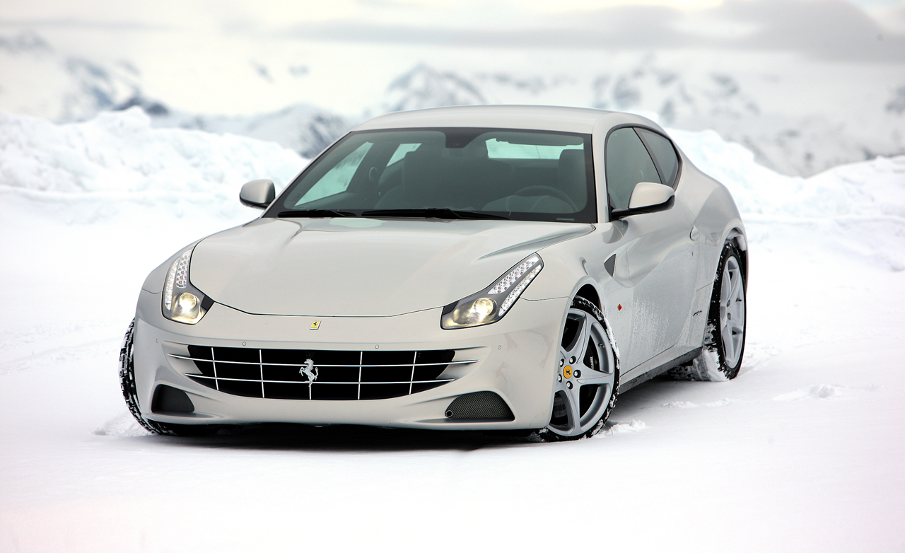 ferrari ff white wallpaper snow