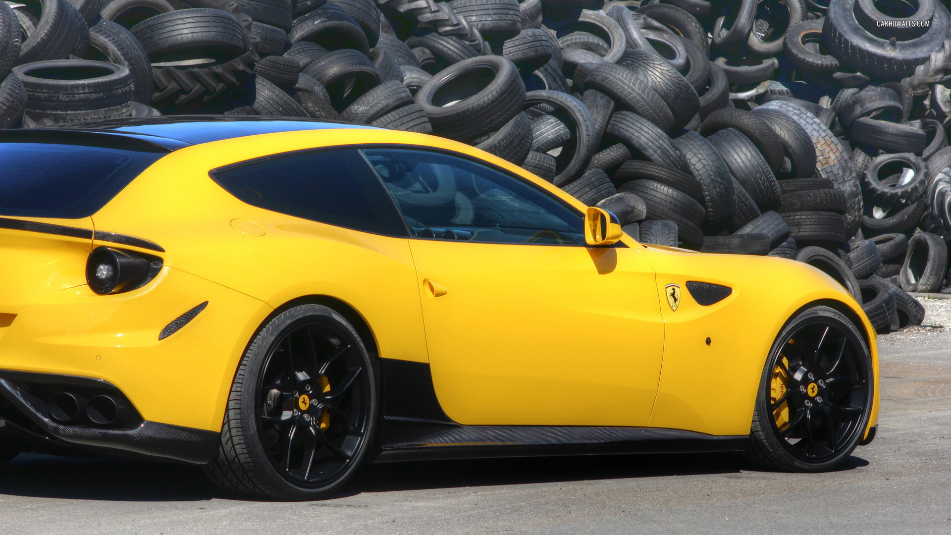 ferrari ff yellow pictures