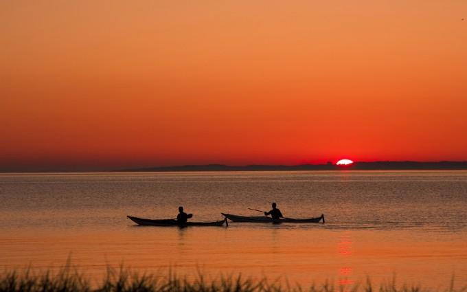 fisherman sunset wallpaper