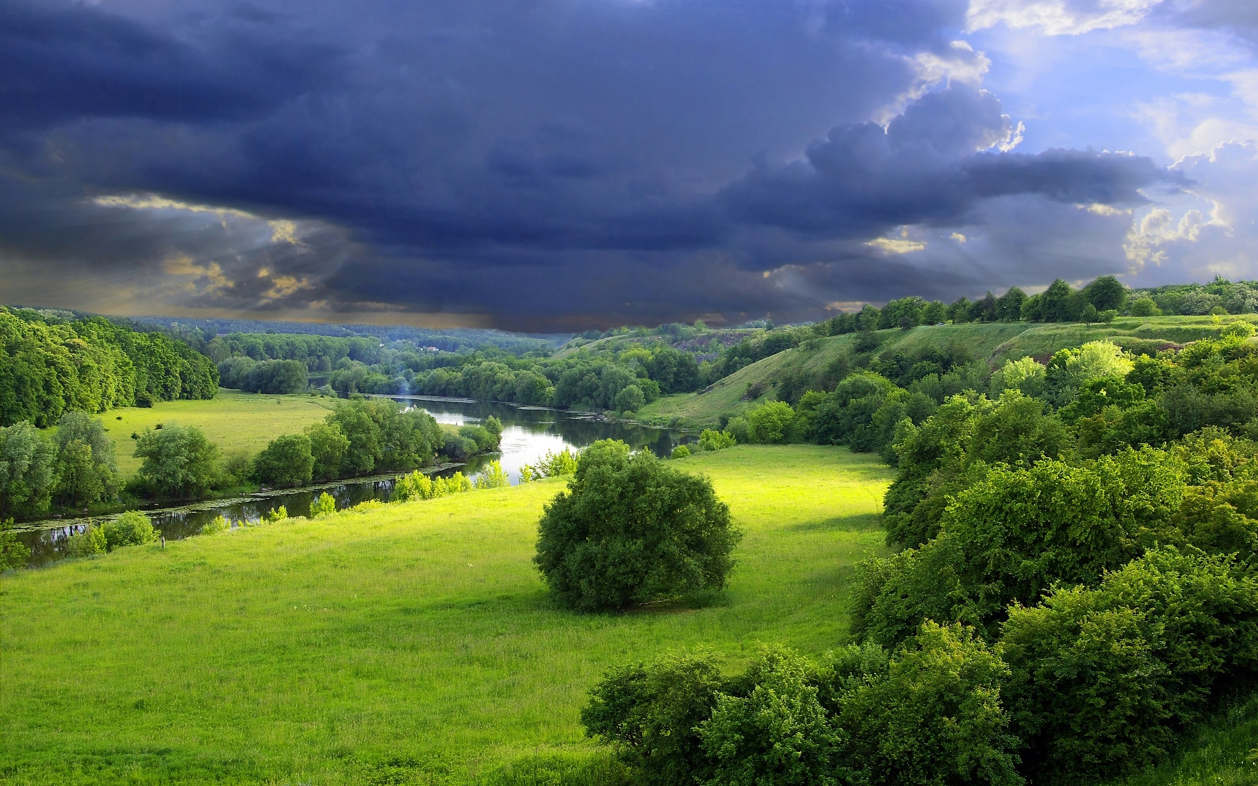 green landscape amazing