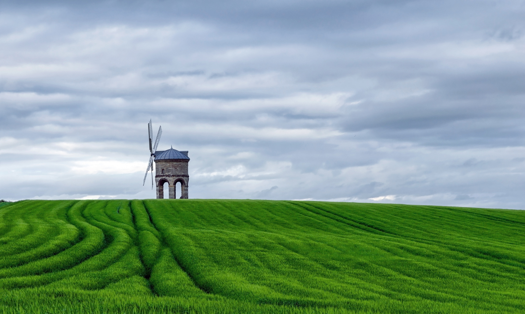 green windmill images